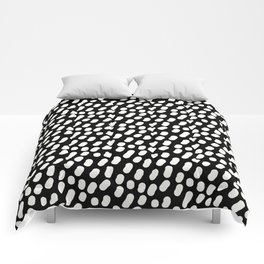 Dotts black and white Comforters