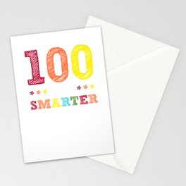 100 days smarter - funny school design - perfect present Stationery Cards