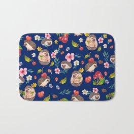Hedgehog with cherries - BBG Bath Mat