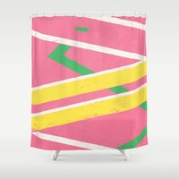 mcfly Shower Curtains featuring Hoverboard by Florent Bodart / Speakerine