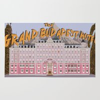 budapest hotel Area & Throw Rugs featuring THE GRAND BUDAPEST HOTEL by Kaitlin Smith