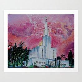 Bern Switzerland LDS Temple Art Print