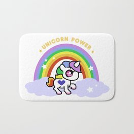 Unicorn Power - By Rainbows and Cotton Candy Bath Mat
