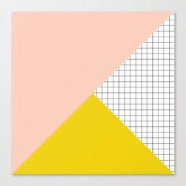 Mustard and Blush Tri Grid Canvas Print