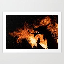 Dragon Fire. Art Print