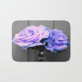 Flowers Lavender Periwinkle Pop of Color Bath Mat
