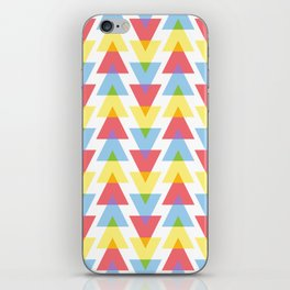 Colour mixing triangles iPhone Skin