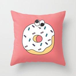 Goofy Foods - Goofy Donut Throw Pillow