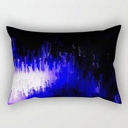 Aqua Stalagmites Rectangular Pillow