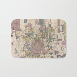 Vintage Map of Houston Texas (1895) Bath Mat