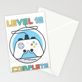 Gamer Geek Level 18 Complete Game Controller Stationery Cards