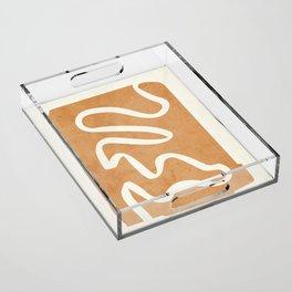 abstract minimal 31 Acrylic Tray