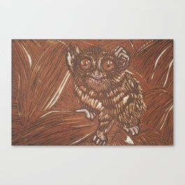 brown tarsier Canvas Print