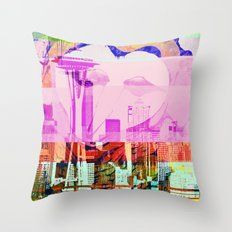 Seattle | Project L0̷SS   Throw Pillow
