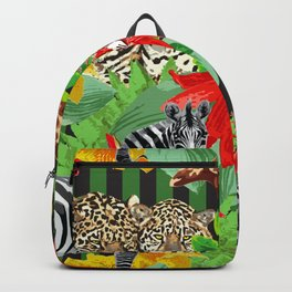 Wild Animals Jungle Pattern Backpack