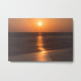 Zuma Beach Malibu Sunset A2 Metal Print