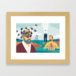 """""""Read the Lost Dream Journal... Four Men"""" by Federica Bordoni for Nautilus Framed Art Print"""