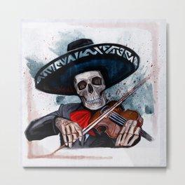 El Mariachi - Dia De Los Muertos Metal Print