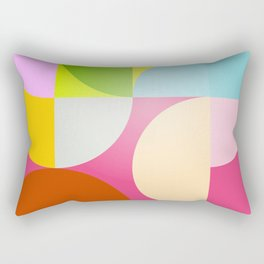 mid century modern geometry Rectangular Pillow