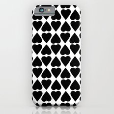 Diamond Hearts Repeat Black Slim Case iPhone 6s