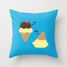 UR A Basic Ice Cream Throw Pillow
