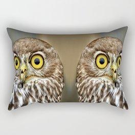 Australia lesser sooty owl Rectangular Pillow