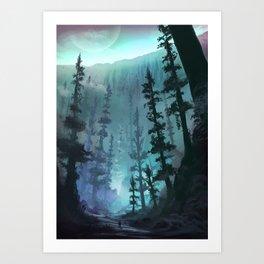 Base of the Great Glacier Art Print