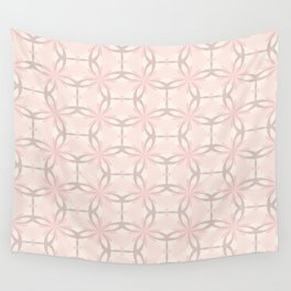Romantic tracery in pink Wall Tapestry