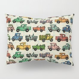 Old Timey Cars Pillow Sham