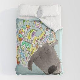 A dog can dream! Duvet Cover
