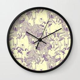 just goats purple cream Wall Clock