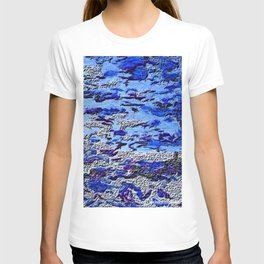 Blue Dream Abstract Painting  T-shirt