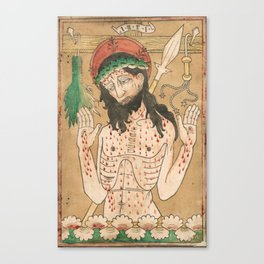 Man of Sorrows - 15th Century Woodcut Canvas Print