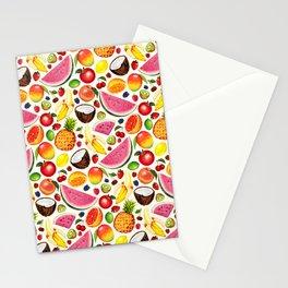 Fruit Pattern - White Stationery Cards