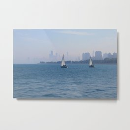 Sailboats Metal Print
