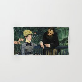Edouard Manet - In the Conservatory Hand & Bath Towel