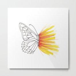 Butterfly Effect | @makemeunison Hand Drawn Art Metal Print