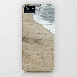 ocean beach sky view iPhone Case