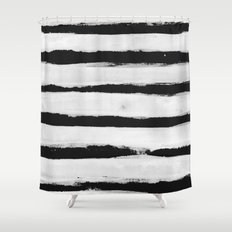 BW Stripes Shower Curtain