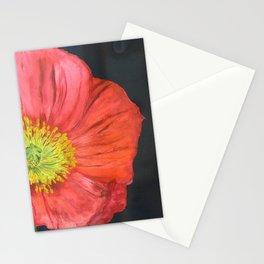 poppy: watercolor botanical art Stationery Cards