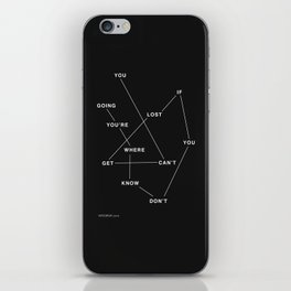 GETLOST iPhone Skin