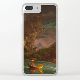 Thomas Cole, The Voyage of Life Manhood, 1842 Clear iPhone Case