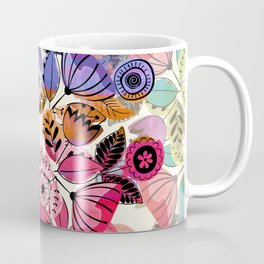Pink and indigo flower pattern Coffee Mug