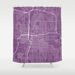 Grand Rapids Map, USA - Purple Shower Curtain
