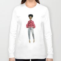 fancy Long Sleeve T-shirts featuring Fancy by Coily and Cute