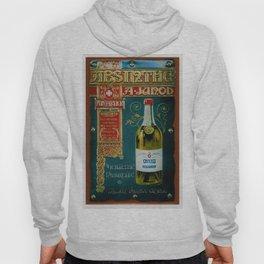 Vintage Absinthe Liquor Aperitif A. Junod Pontarier Advertising Poster Hoody