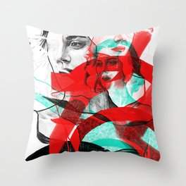 Marion Cotillard in Inception - Movie Inspired Art Throw Pillow