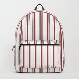 Vintage New England Shaker Barn Red Milk Paint Mattress Ticking Vertical Wide Striped Backpack