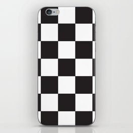Black and White Checkered Pattern iPhone Skin