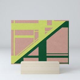 Segmented - Minimalist Geometric Abstract Mini Art Print